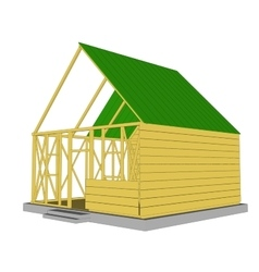 Ecology green house vector
