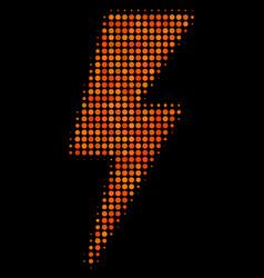 electric strike halftone icon vector image
