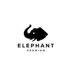 elephant head logo icon vector image
