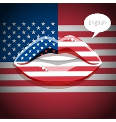 English american language concept vector image