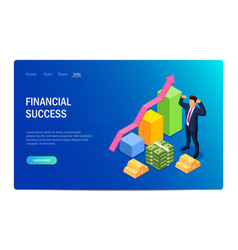 financial success concept with characters design vector image