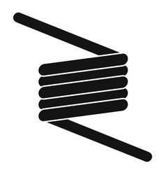 Flexible spring cable icon simple style vector