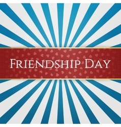 Friendship Day realistic red Design Element vector image
