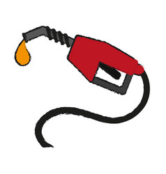Gas pump icon image vector