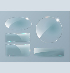 glass banners on transparent background vector image