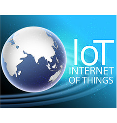 global internet of things connection around the vector image