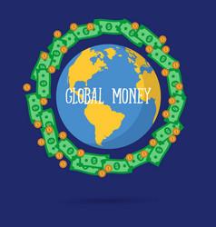 global money transfer vector image