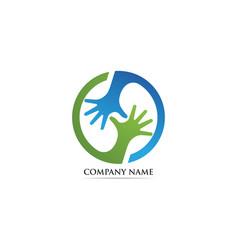 hand care adoption logo vector image