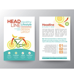 Healthy lifestyle concept brochure flyer design vector