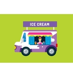 Ice cream truck van vector