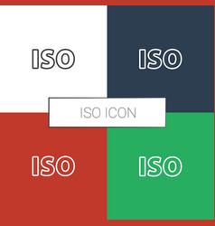 Iso icon white background vector