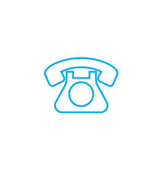 landline phone linear icon concept landline phone vector image
