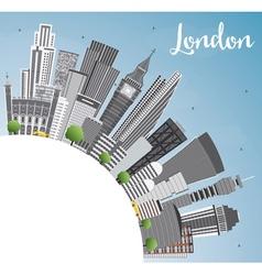 London Skyline with Gray Buildings Blue Sky vector