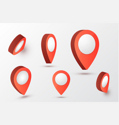 map pointer vector image