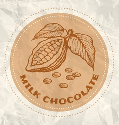 Milk chocolate vintage paper vector