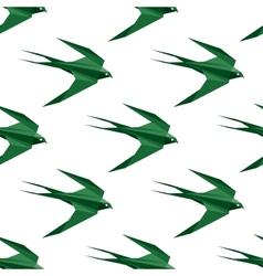 Origami swallow seamless pattern vector