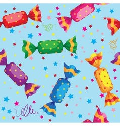 Pattern cute sweets candy vector