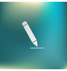 pen or pencil writing on a sheet vector image