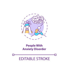 People with anxiety disorder concept icon vector