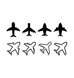 plane icon design template isolated vector image