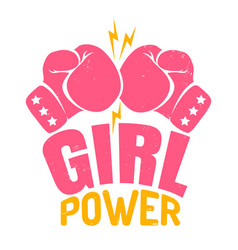 Poster girl power vector