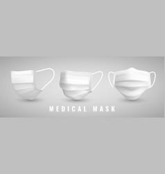 Realistic medical face mask details 3d medical vector