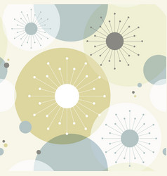 retro atomic 1950s mid century vintage background vector image