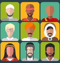Set of cartoon head icons vector