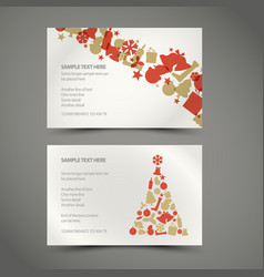 Set of christmas new year cards vector