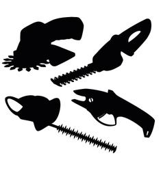 Set of garden secateurs vector image