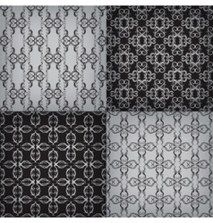 Set of seamless with graphic pattern vector image