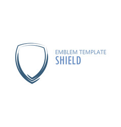 shield logo on white vector image