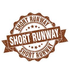 Short runway stamp sign seal vector