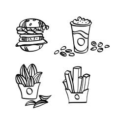 sketch fastfood vector image