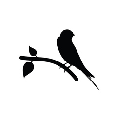 sparrow black vector image