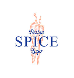 Spice logo design badge can be used for culinary vector