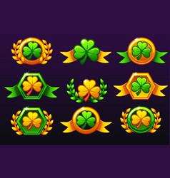 st patrick awards laurel wreath of victory and vector image