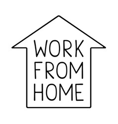 Stock work from home design vector