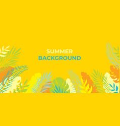 summer background summer vacation for banner vector image