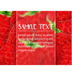 Template for design with frame for text vector