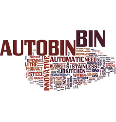 The innovative autobin text background word cloud vector
