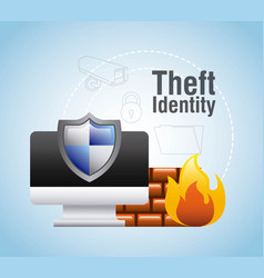 Theft identity computer protection firewall safety vector