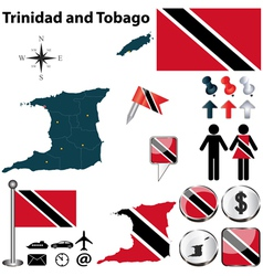 Trinidad and Tobago map vector image