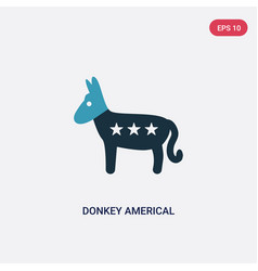 Two color donkey americal political icon from vector