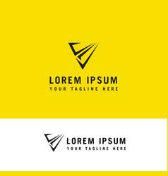v letter modern trendy design logo letter v icon vector image