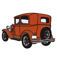 Vintage red car vector