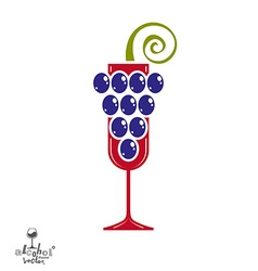Winery idea eps8 Elegant glass of wine with vector image