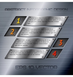 Abstract metal infographics options vector image vector image