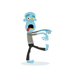 comic walking dead man character vector image vector image