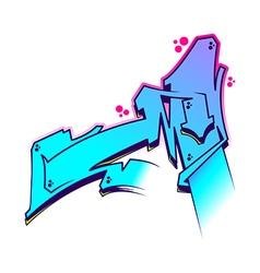Graffiti letter m vector